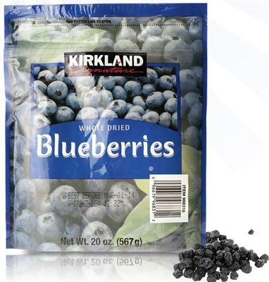 美国直邮 Kirkland可兰特级蓝莓干 护眼抗氧化防辐射 567g