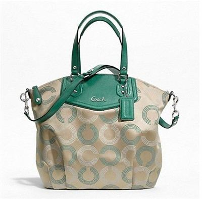 蔻驰 ASHLEY DOTTED OP ART NORTH/SOUTH SATCHEL_STYLE  F25183