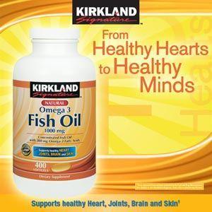 KIRKLAND Fish Oil 天然深海浓缩鱼油 1000mg 400粒