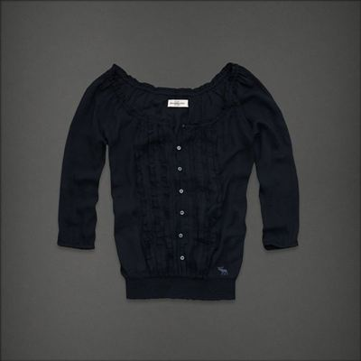 Abercrombie Fitch/AF 女士圆领花边小衬衫