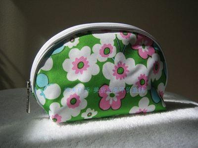 北京现货!美国专柜赠品 倩碧绿粉雏菊扇形化妆包