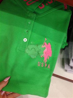 美国代购 USPA女士短袖立领POLO衫  多色