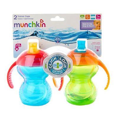 美国直邮 Munchkin麦肯奇双把手防漏训练杯学饮杯鸭嘴杯不含BPA 2只装 207ml