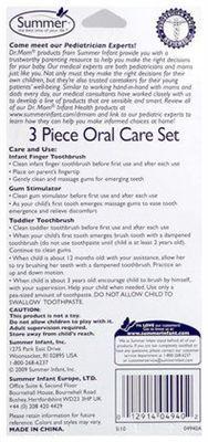 Summer infant专业家庭护理品牌 婴幼儿牙刷护理3件套组盒装