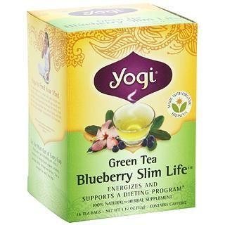 包邮包关税Yogi Tea瑜伽茶 有机蓝莓绿茶瘦身茶燃脂纤体茶减肥茶