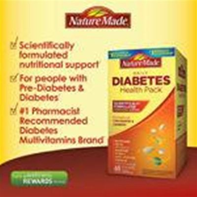 美国直邮Nature Made糖尿病健康包Diabetes Health Pack 60包