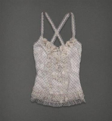 A&F 女式雪纺吊带小花上衣