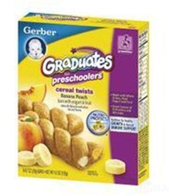 嘉宝Gerber香蕉黄桃/草莓蓝莓软夹心麻花派饼干20g*6/盒