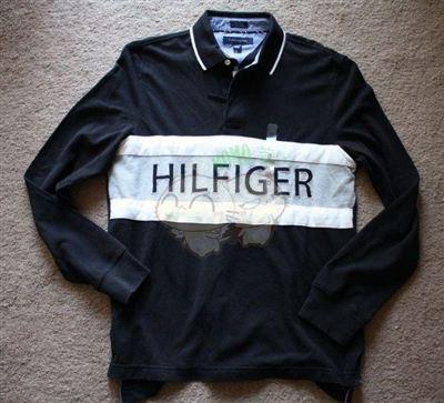 美国现货 TOMMY HILFIGER 男士蓝色/黑色长袖T恤
