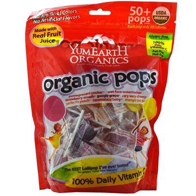 美国直邮YummyEarth有机维生素混合水果口味棒棒糖50+支
