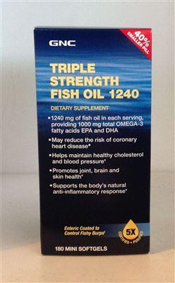 美国直邮GNC三倍浓缩深海鱼油1240毫克 180粒