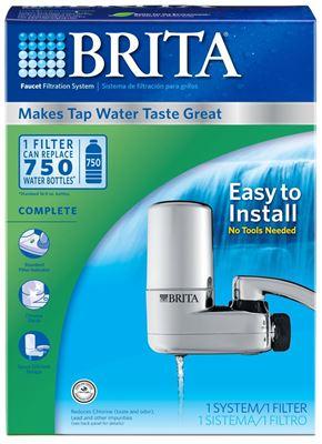 特价 1个起包美国直邮 Brita 碧然德 水龙头用过滤净水系统 带1滤芯 方便安装 快速出水 净化水自来水换挡分离