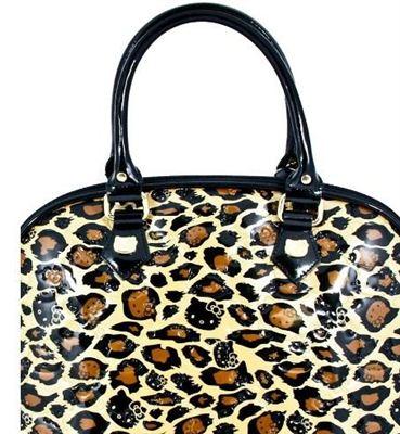 【Hello Kitty】限量版豹纹压花手提包