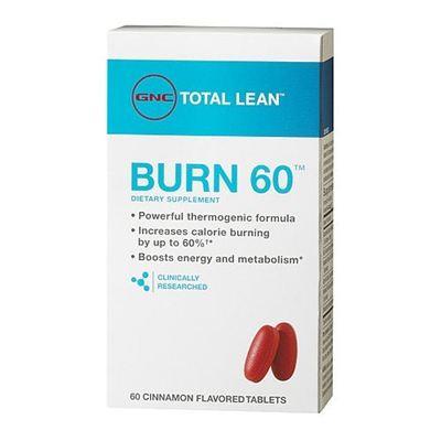 2盒直邮包税 美国GNC 新款科学燃脂配方Burn 60 60粒 安全瘦身