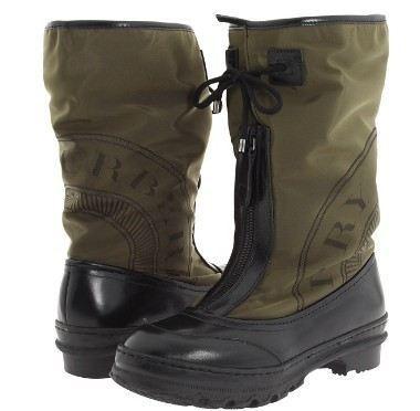 美国直邮BURBERRY巴宝莉经典圆图章标高筒拉链防水材质靴4折特价