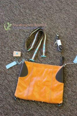 美国直递 GABS 橙色拼皮多种背法中号肩包 Made in Italy