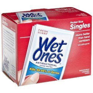 美国直邮PLAYTEX Wet Ones持久杀菌湿巾/除菌99.99%(5盒)独立装