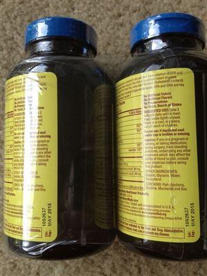 美国2瓶装Nature Made Fish Oil 深海鱼油200粒 1200mg (美直邮)