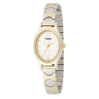 美国直邮 女表 Timex 天美时 T26301 Watch 双色弹性表带