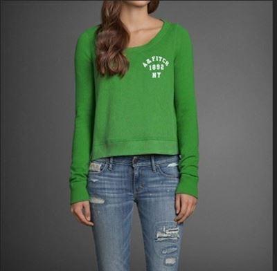 AF 女士休闲卫衣 黄/绿 两色入 jennie sweatshirt