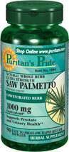 2瓶puritan's pride锯棕榈美洲蒲葵前列腺胶囊90粒1000MG