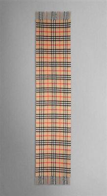 巴宝莉Burberry宽版100%羊绒围巾Giant Check Cashmere