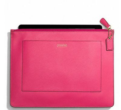 coach ipad 、kindle皮夹 DARCY LEATHER LARGE TECH POUCH