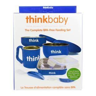 美国直邮 Thinkbaby不锈钢密封婴幼儿童餐具6件套