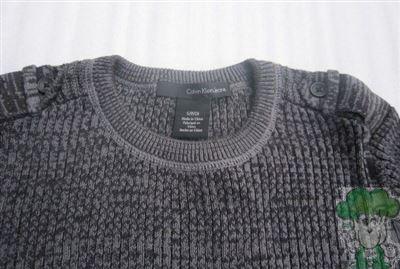 Calvin Klein Jeans男士全棉紧身线衫s码