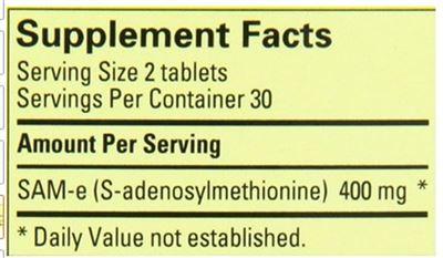 美国直邮NATURE MADE SAM-E保护关节抗焦虑情绪60粒