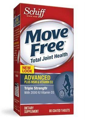 【美国直邮】Schiff move free advanced 维骨力 蓝瓶 添加MSM&VD