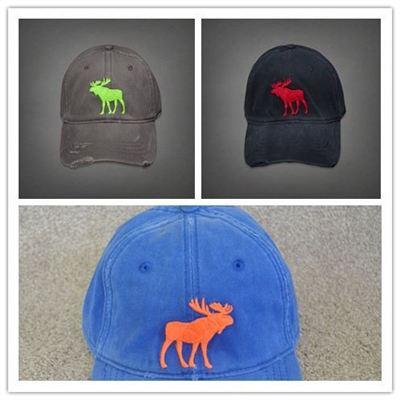 Abercrombie&Fitch VINTAGE BALL CAPS AF 经典 小鹿LOGO 棒球帽