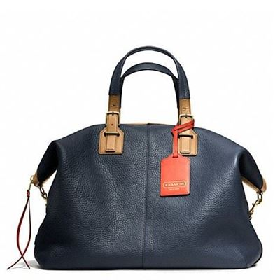 蔻驰 SOFT TRAVEL SATCHEL IN PEBBLED LEATHER_F25308