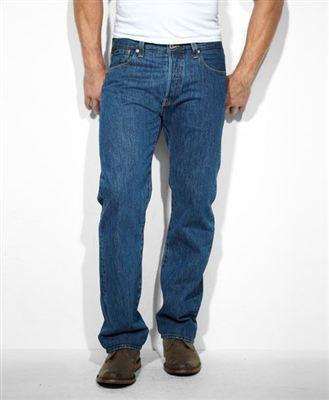 Levis 501 厚款深色水洗牛仔裤