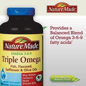 Nature Made Triple Omega 3-6-9 复合鱼油液体胶囊180粒