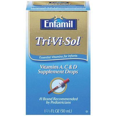 美赞臣Enfamil Tri-Vi-Sol婴儿幼儿 维生素ACD滴剂 不含铁