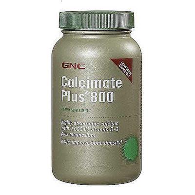 美国GNC钙片柠檬酸钙片苹果酸钙镁片D片240粒/吸收率高 三件包运