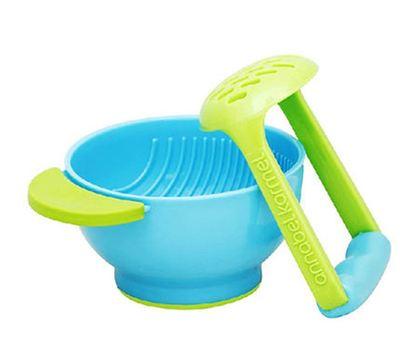 美国直邮NUK Freshfoods手动宝宝食物研磨碗 婴儿辅食研磨器
