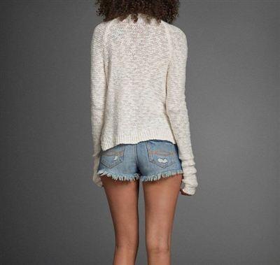 美国代购Abercrombie&Fitch AF女式珠宝项链领套头毛衣针织衫