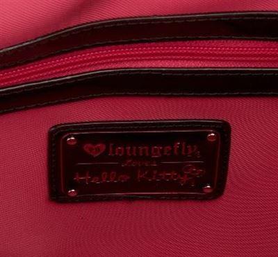 【Hello Kitty】logo压花黑色手提包