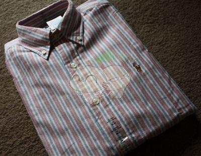 美国现货 Ralph Lauren 男士条条衬衫 彩马标