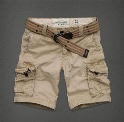 美国Abercrombie&Fitch男工装短裤Silver Lake Shorts副腰带