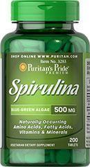 [5瓶打包价]3283Puritan's Pride螺旋藻500mg200颗