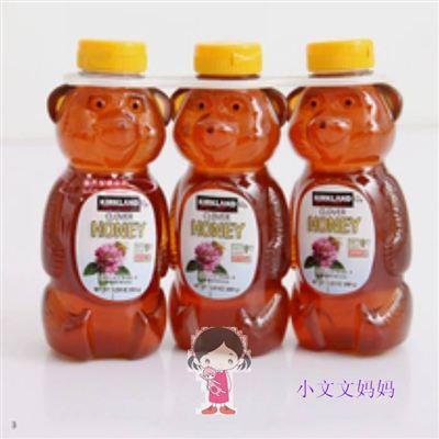 美国直邮 Kirkland Honey小熊100%天然纯蜂蜜  680g一瓶*3